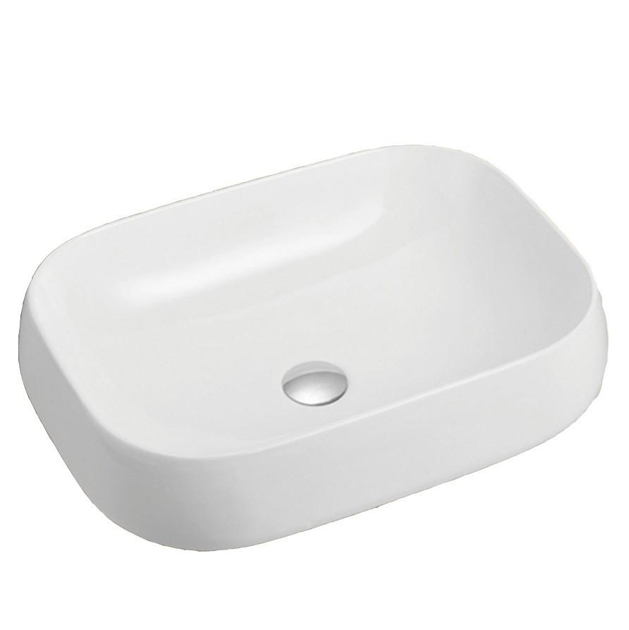 Brand New In Box Top Mount Basin White/Ceramic, 560 x 420 x 150mm (K806) (B