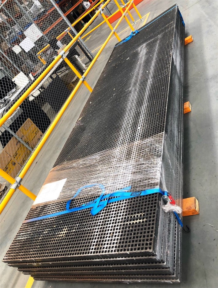 GRP Black grating, 19mm x 19 mm grating on a 38 x 38 structure. Gritted,