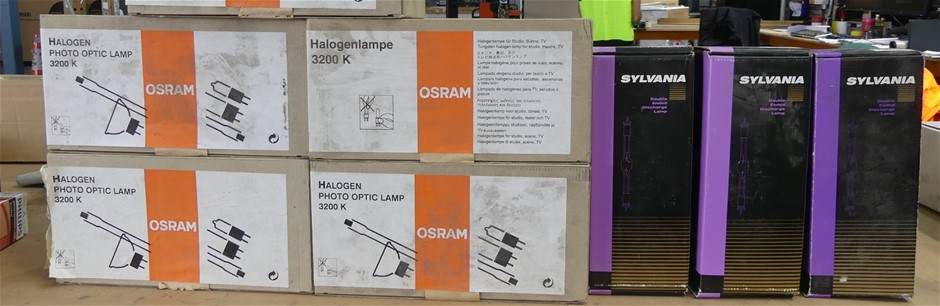 Box containing 8 x assorted lamps, included are: 5 x Halogenlamps