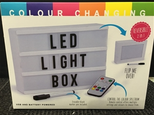 LED Light Box with Remote Control