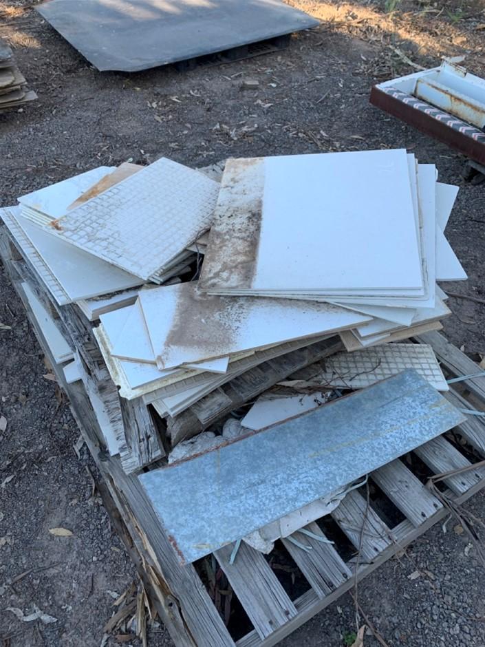Pallet of assorted porcelain tiles