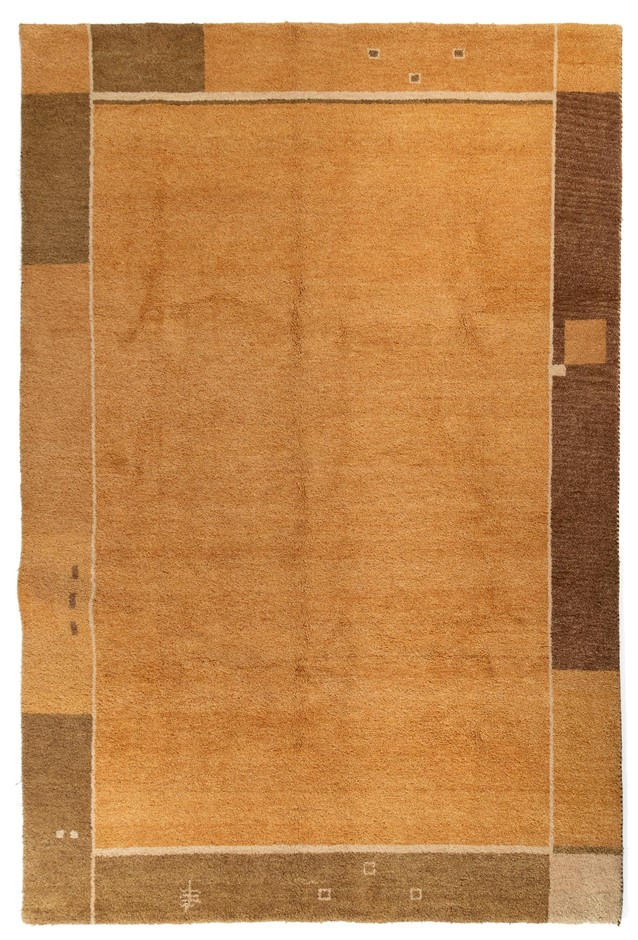 Indian Gabbeh Heavy thick Hand Knotted Wool Pile Size (cm): 198 x 295