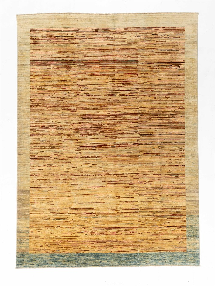 Afghan Gabbeh Stripy Hand Knotted Pure Wool Pile Size (cm): 207 x 288