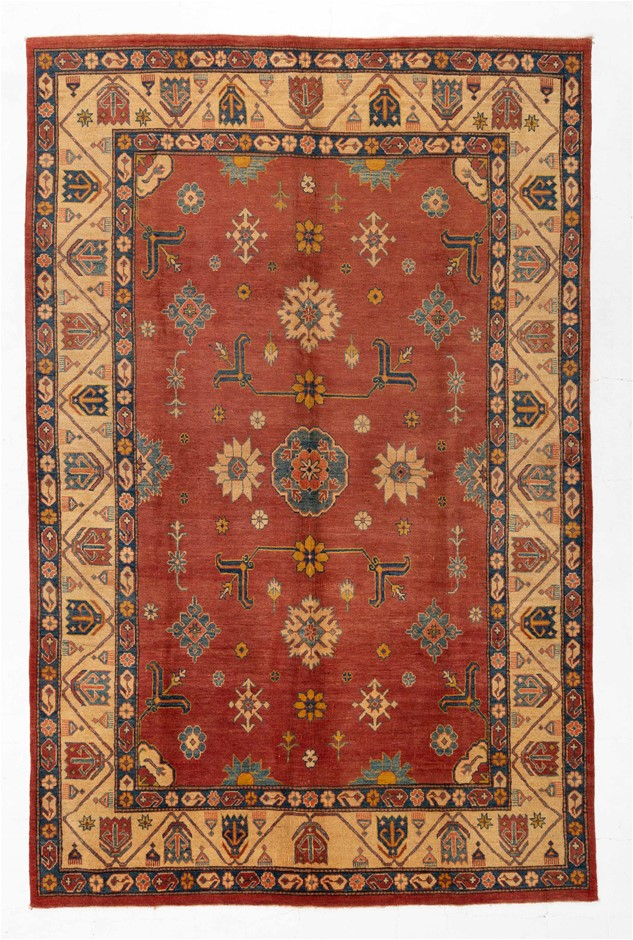 Afghan Kazak Tribal Hand Knotted Pure Wool Pile Size (cm): 222 x 343