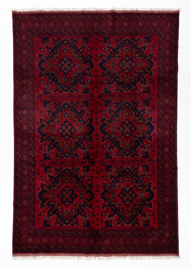 Afghan Khal Mohomadi Tribal Hand Knotted Pure Wool Size (cm): 190 x 290