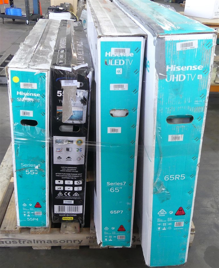 Pallet of Assorted brands Faulty Televisions
