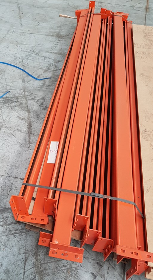 Qty 12 x Orange Racking Horizontals, 2750