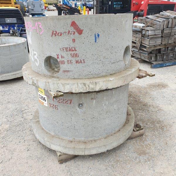 Qty 2 x Concrete Sewer Pits