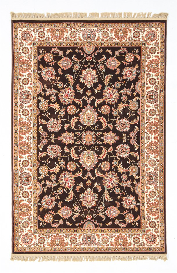 Machine Made Art Silk Soft Low Pile beautiful floor rug SIZE cm: 150 X 230
