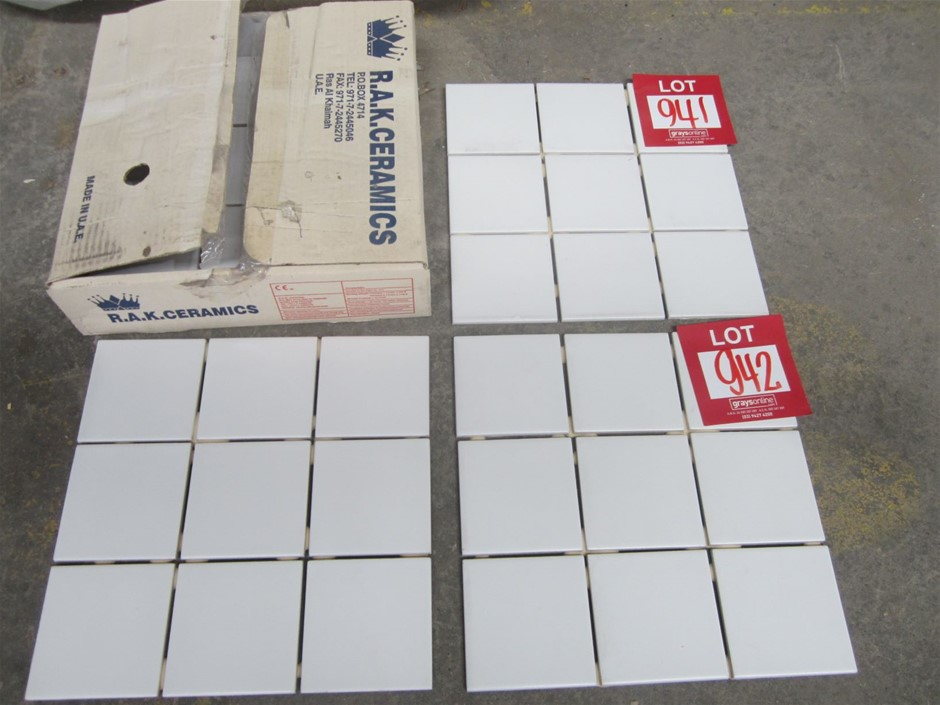 10 boxes of Bianco Mosaic tiles.