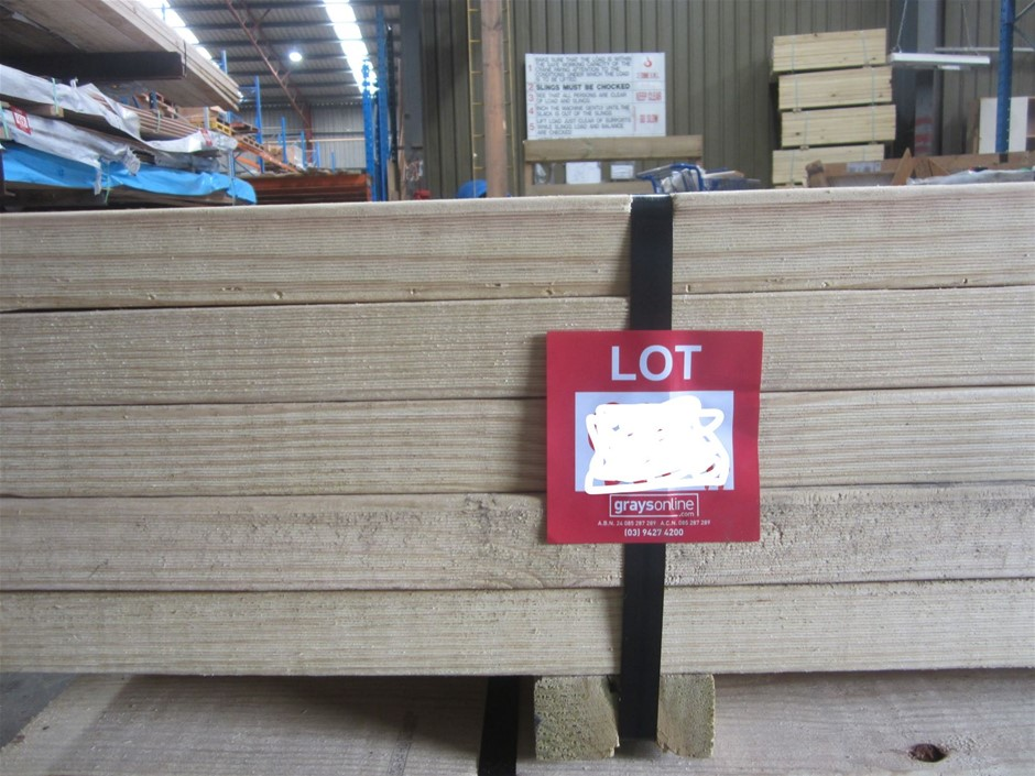 Pack of 140mm x 45mm MGP Treated Pine.