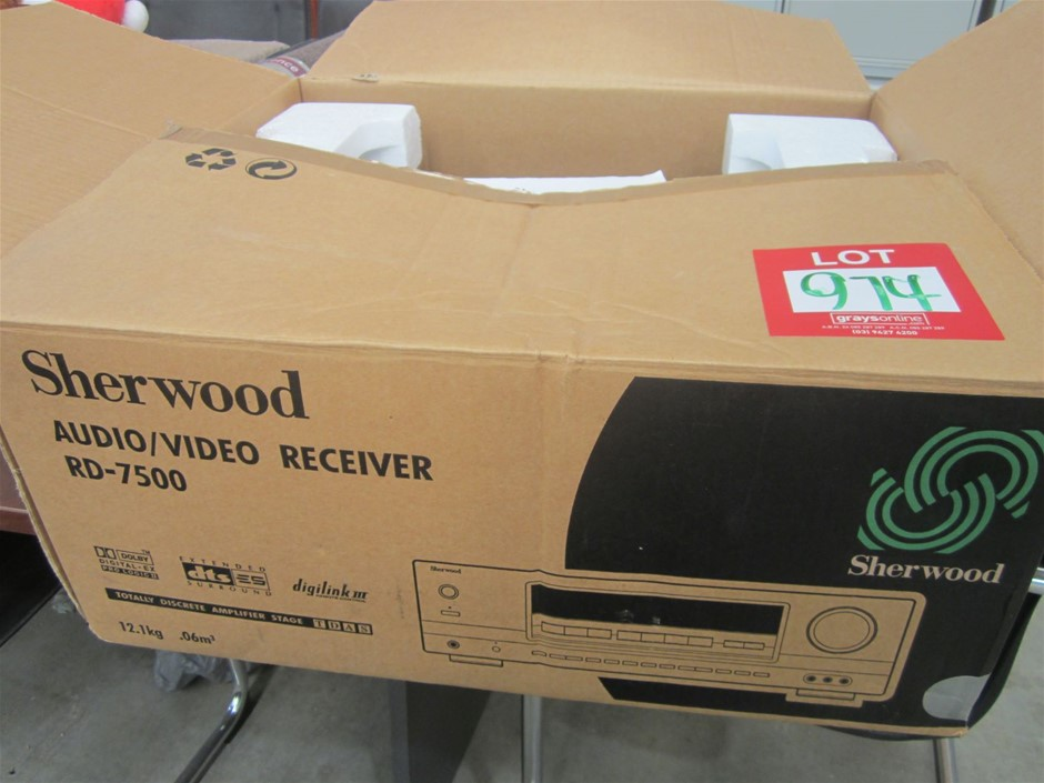 Sherwood RD7500 Audio/Video Receiver. With Remote.