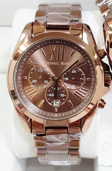 New fantastic coloured Michael Kors dual time chronograph watch,