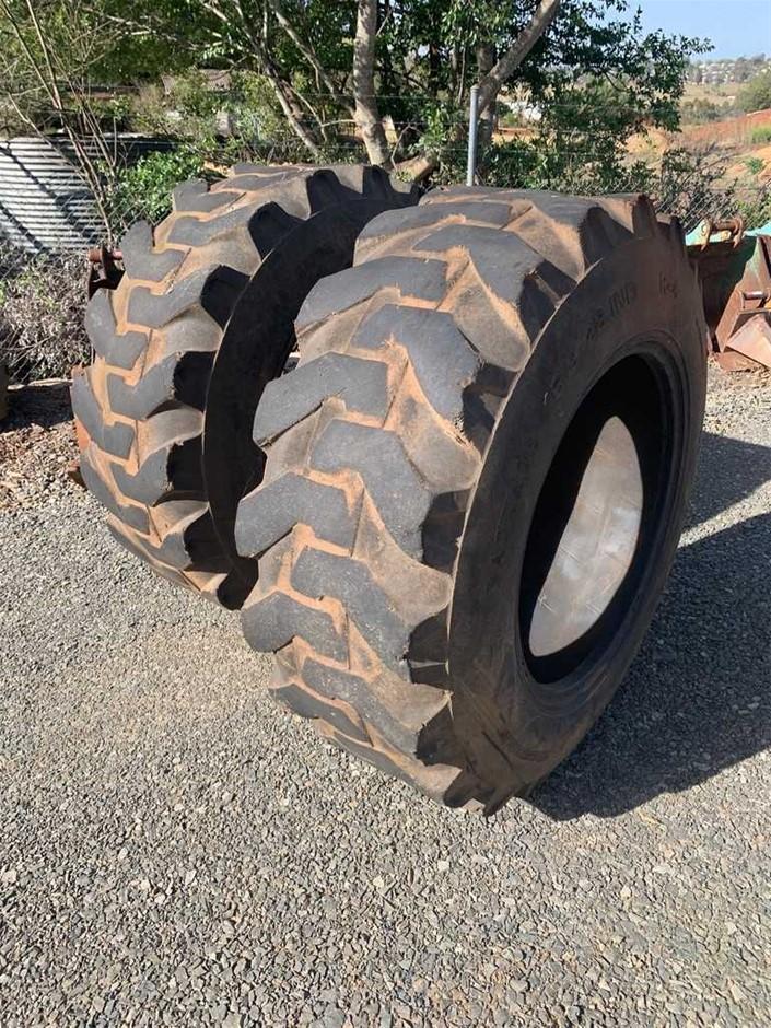2 x Backhoe Tyres