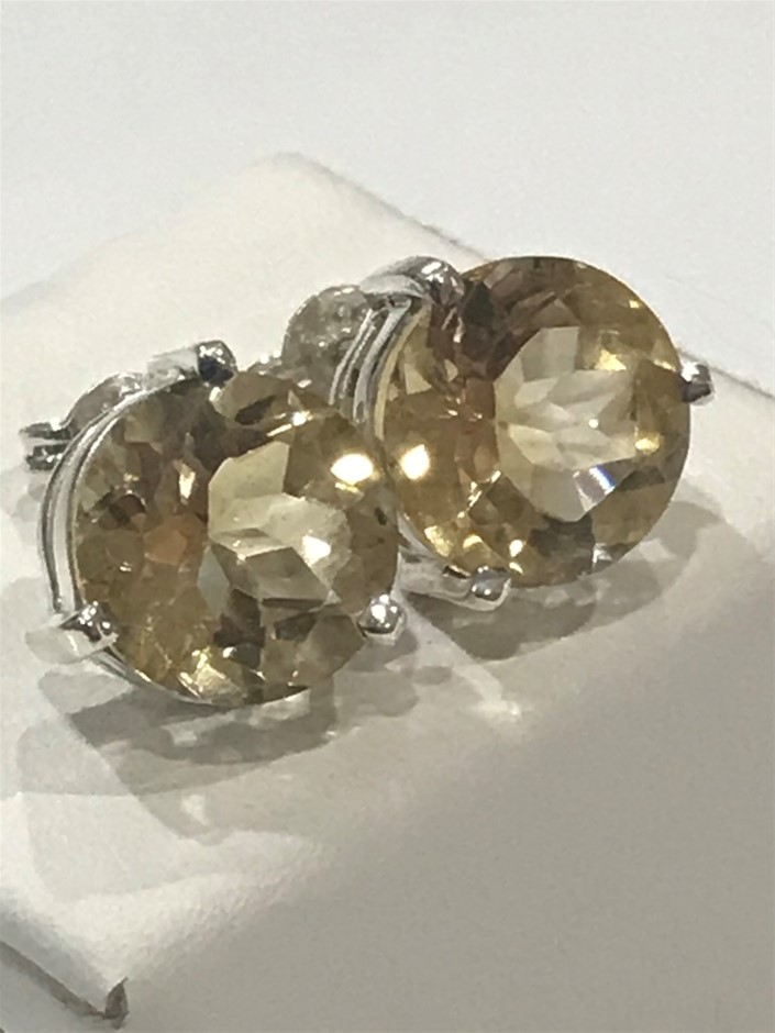Magnificent Genuine 11.50ct Citrine Earrings