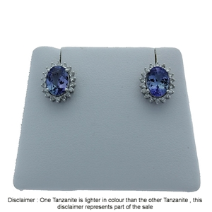 9ct White Gold, 2.55ct Tanzanite and Dia