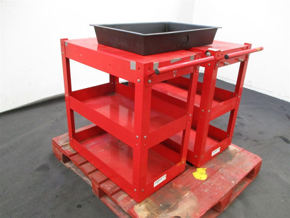 Qty 2 x Trade Tools Tool Trolley