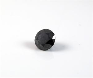1.26ct Round brilliant cut natural black