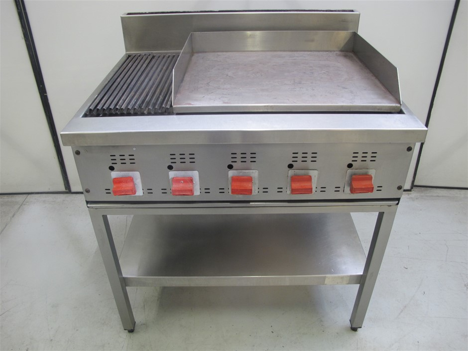 Cookon 900mm Chargrill with Hotplate Combination