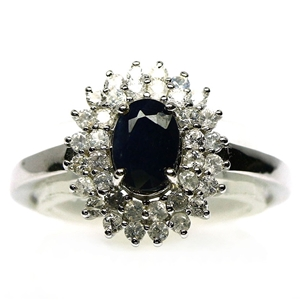 Beautiful Genuine Sapphire Ring