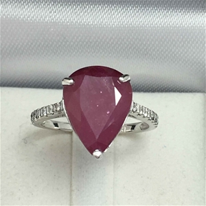 18ct White Gold, 5.52ct Ruby and Diamond