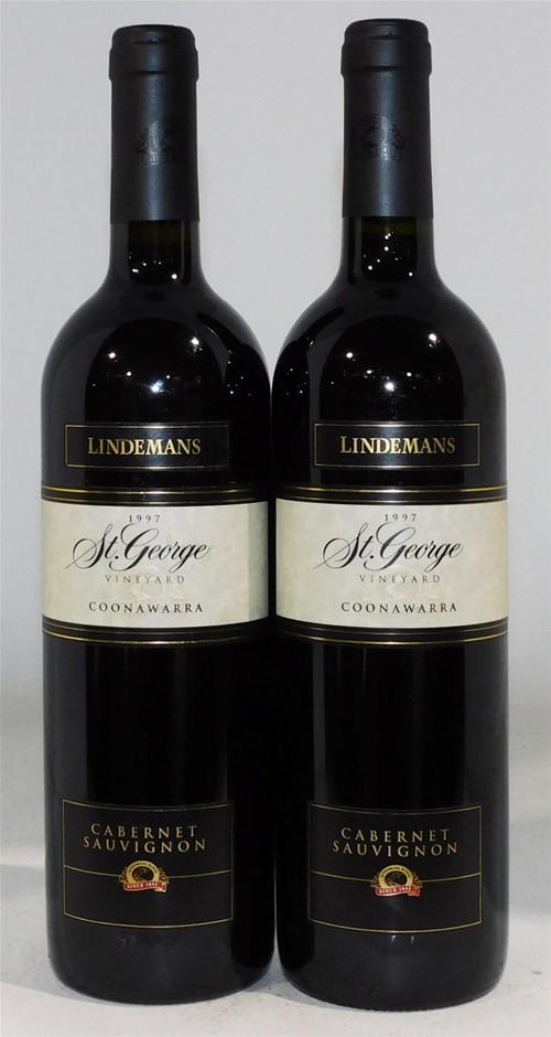 Lindemans `St. George` Cabernet Sauvignon 1997 (2x 750ml), Coonawarra