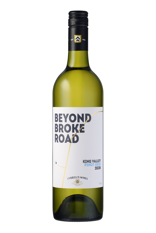 Tyrrell's `Beyond Broke Road` Pinot Gris 2019 (6 x 750mL) King Valley, VIC