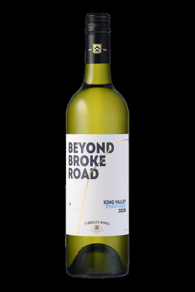 Tyrrell's `Beyond Broke Road` Pinot Gris 2018 (6 x 750mL) King Valley, VIC