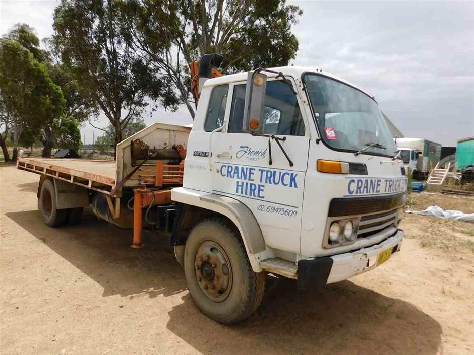 1983 Isuzu JCR500 Series 4 x 2 Crane Truck