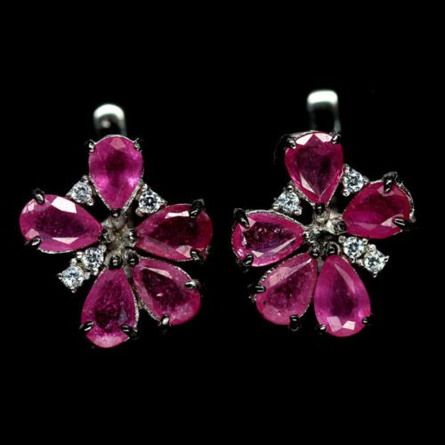 Gorgeous Pink Ruby Earrings.
