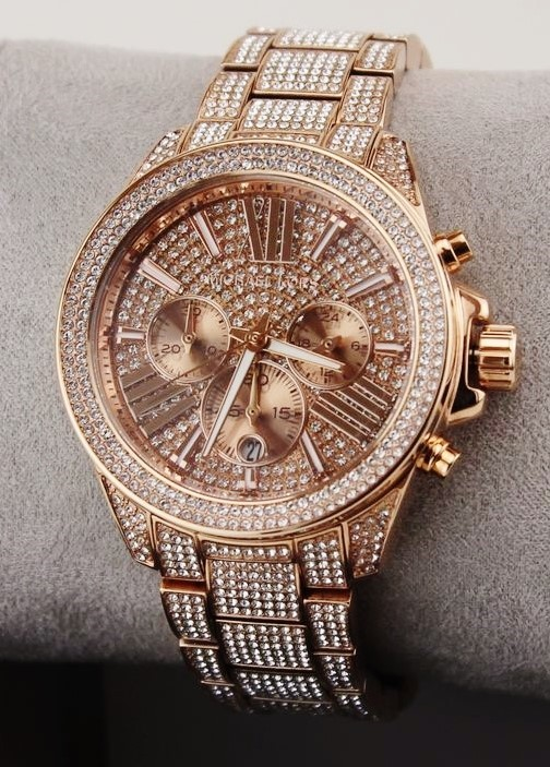 New Michael Kors 'Wren' gemstone ultra glamorous watch.