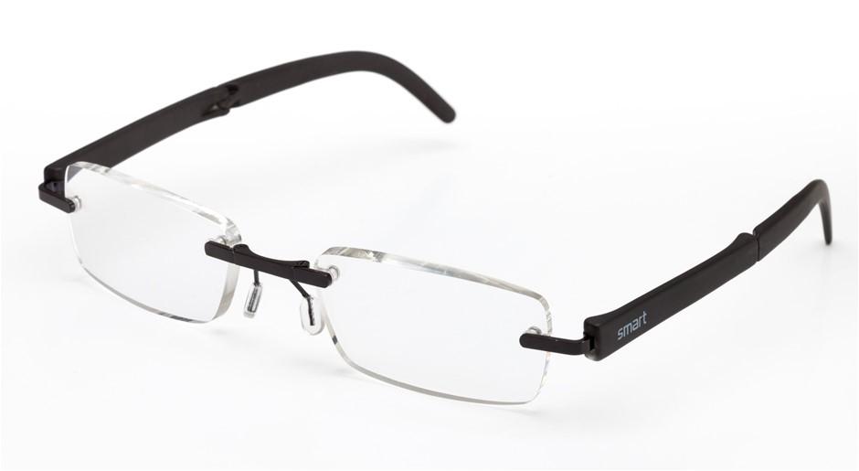B+D SmartReaders- 6 x Folding Reading Glasses - Black ; 3x +2.00, 3x +2.50