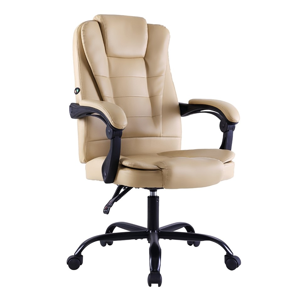 Artiss Massage Office Chair Gaming Chair Recliner Computer Chairs Khaki