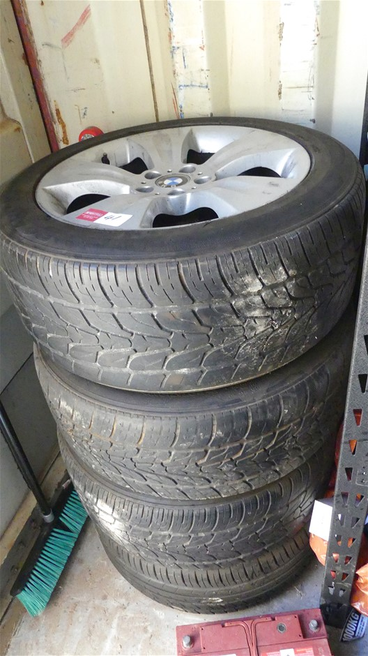 Qty 4 x BMW Mag Wheels with Tyres (used)