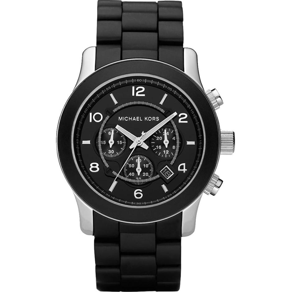 Smart new Michael Kors Runway Black Stainless Steel Watch