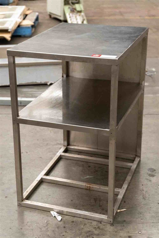Stainless Steel Bench with Shelf