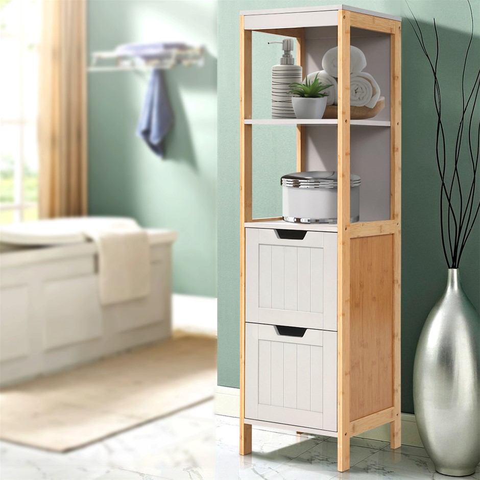 Artiss Bathroom Cabinet Tallboy Furniture Toilet Laundry Cupboard 115cm