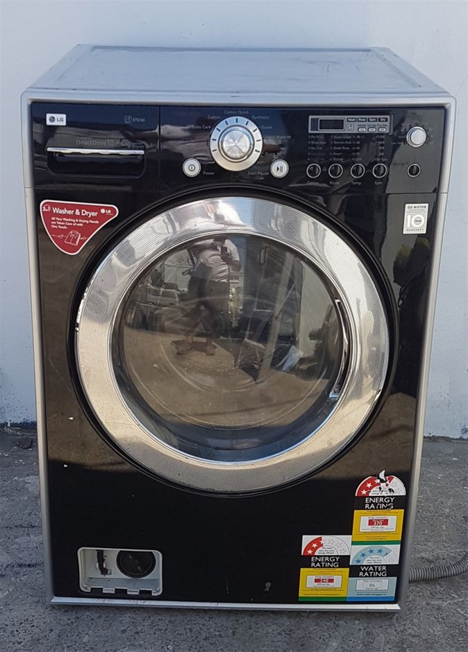LG FULLY AUTOMATIC MODEL WD12576FD FRONT LOADER WASHER DRYER STEAMER DIRECT