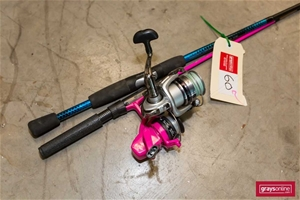 2x Fishing Rod and Reel