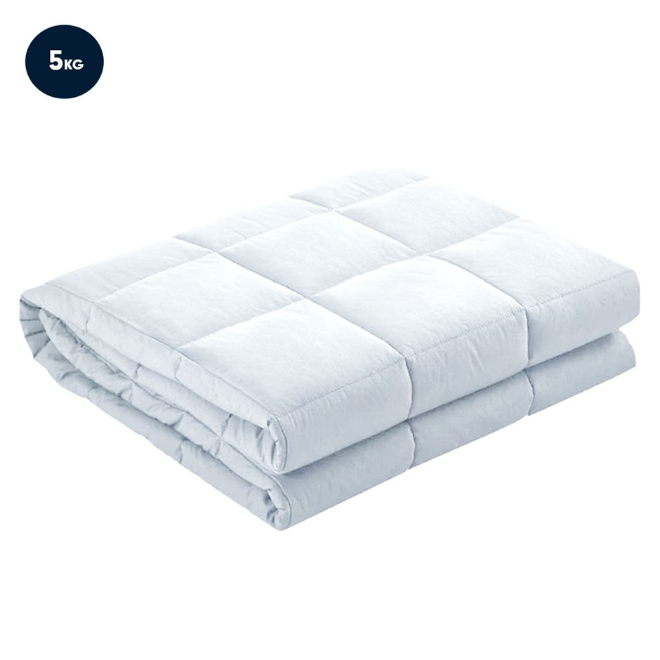 Laura Hill Weighted Blanket Heavy Quilt Doona 5kg - White
