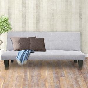 2 Seater Modular Linen Fabric Sofa Bed C
