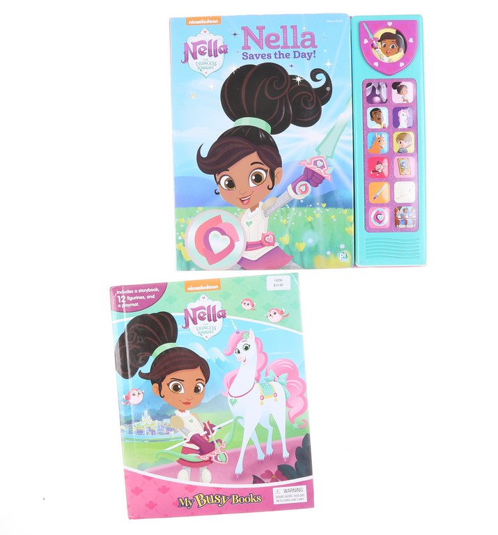 NICKELODEON NELLA the Princess Knight MY BUSY Book & NELLA Saves the Day Pl