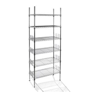 2 x Chrome Mini 6 Tier Book Shelves 29x5