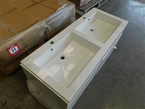 1 x Double Basin Vanity Top only