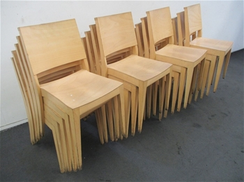 Qty of Wooden Dining Chairs