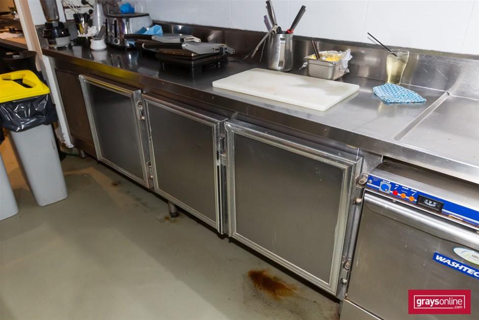 3 Door Under Bench Refrigerator / Freezer Cabinet Only