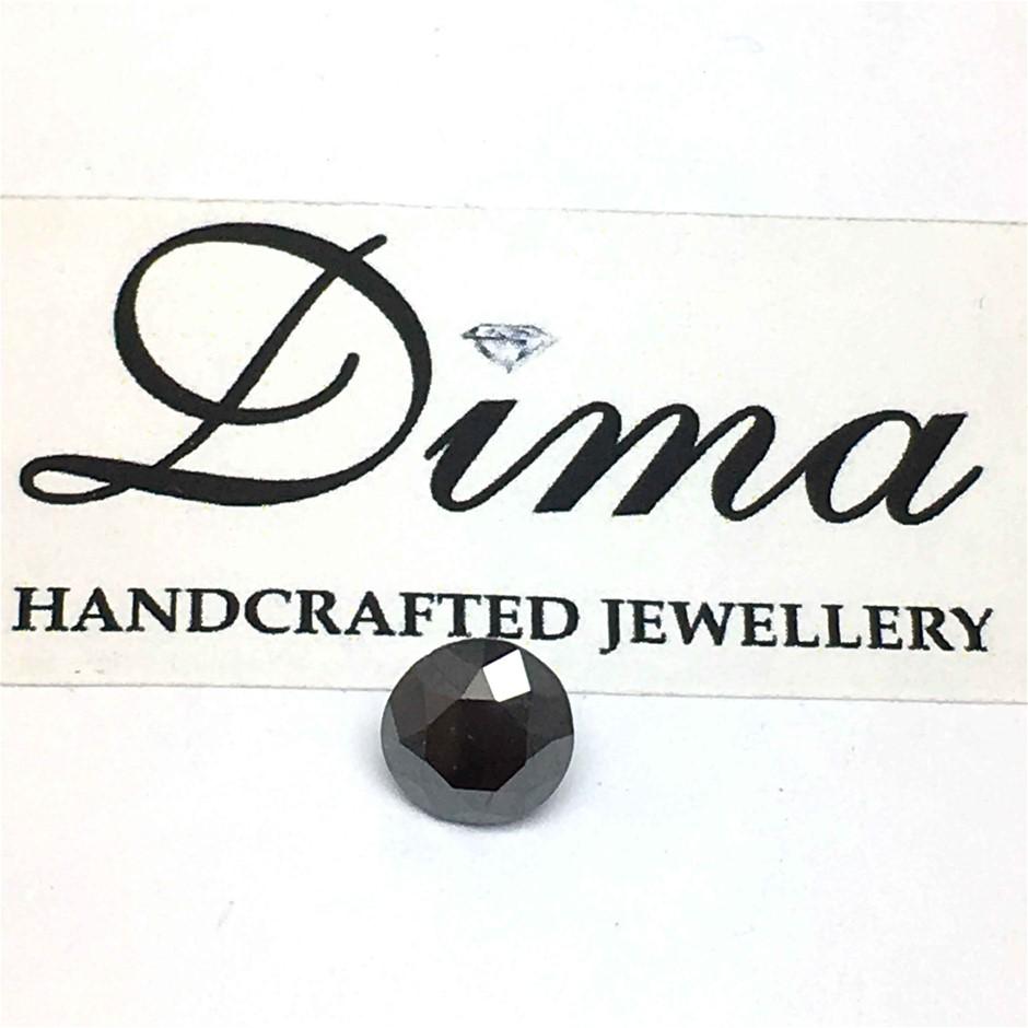 One Stone Black Diamond 0.93ct in Total