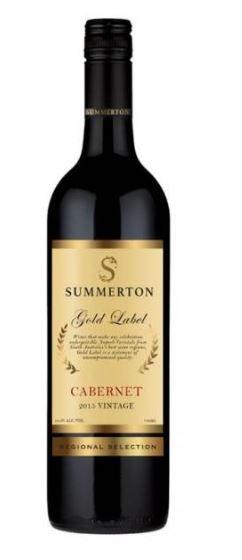 Summerton Gold Cabernet Sauvignon 2015 (6 x 750mL) SA