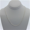 Genuine Sterling Silver double anchor chain necklace 46 cm