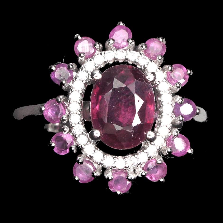 Striking Genuine Ruby Ring